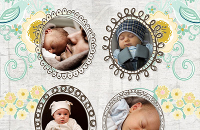 create an incredibly cute photo collage using a free quirky frames