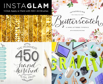 The Essential, Creative Design Arsenal (1000s of Best-Selling Resources)