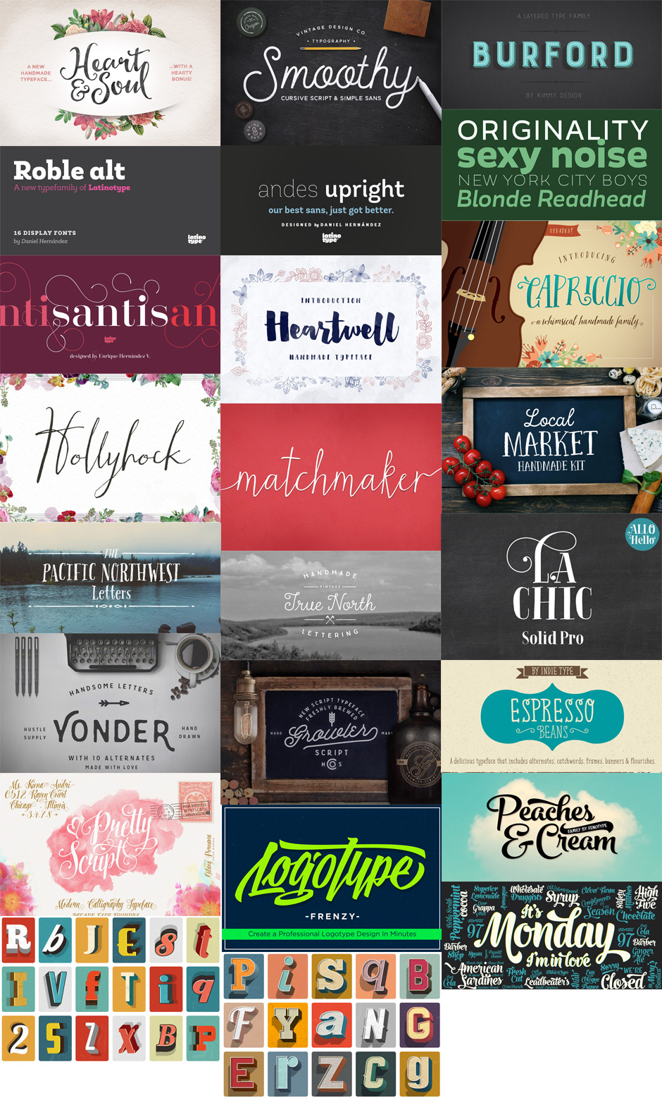 22 Best Selling Gorgeous Fonts