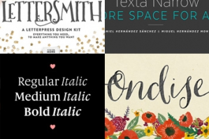 22 Professional & Artistic Fonts (With Web Fonts and Extended Licensing)