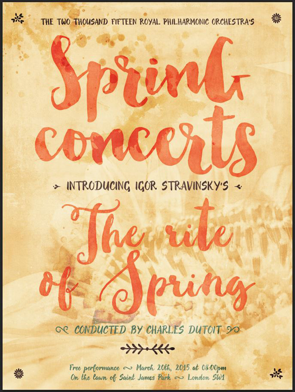 create a bright and cheery spring concert poster design cuts