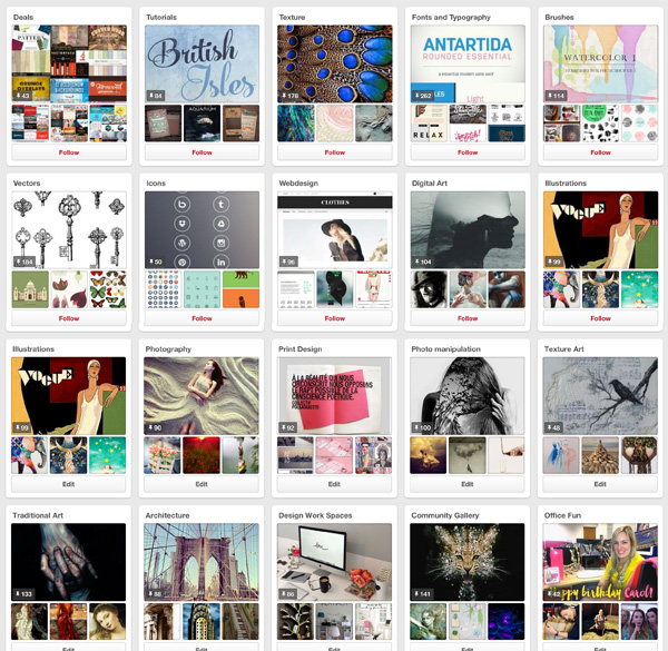 Design Cuts Pinterest page