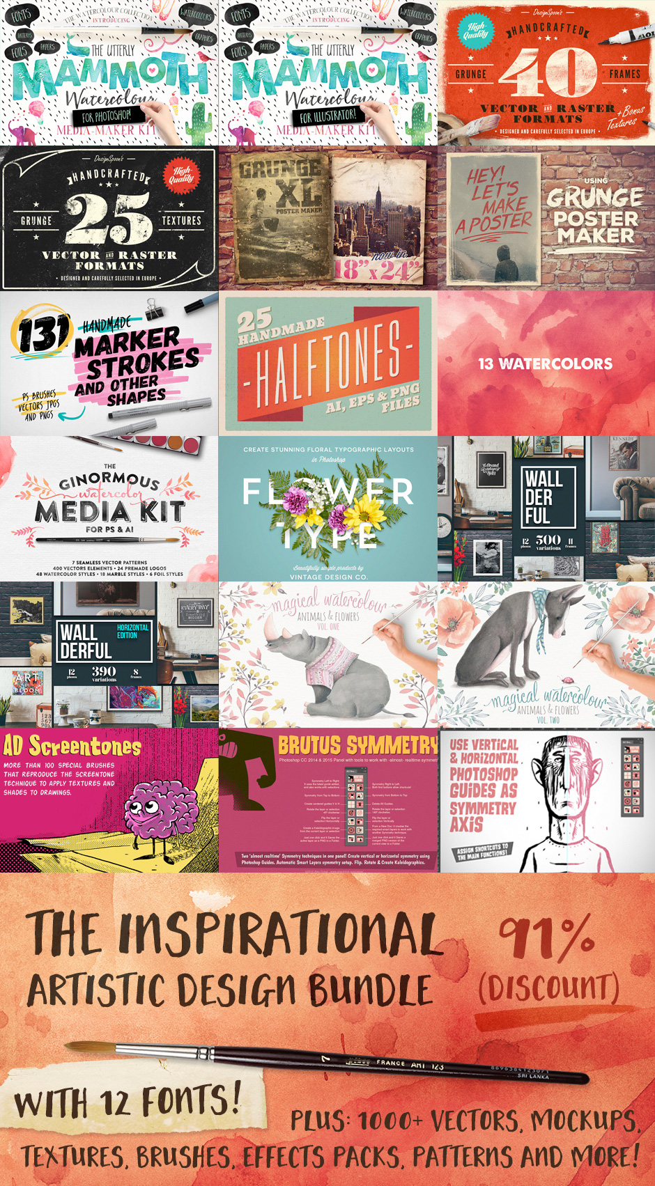 Poster design resources - Here S A More Detailed Look At The Entire Bundle And The Thousands Of Best Selling Resources Included