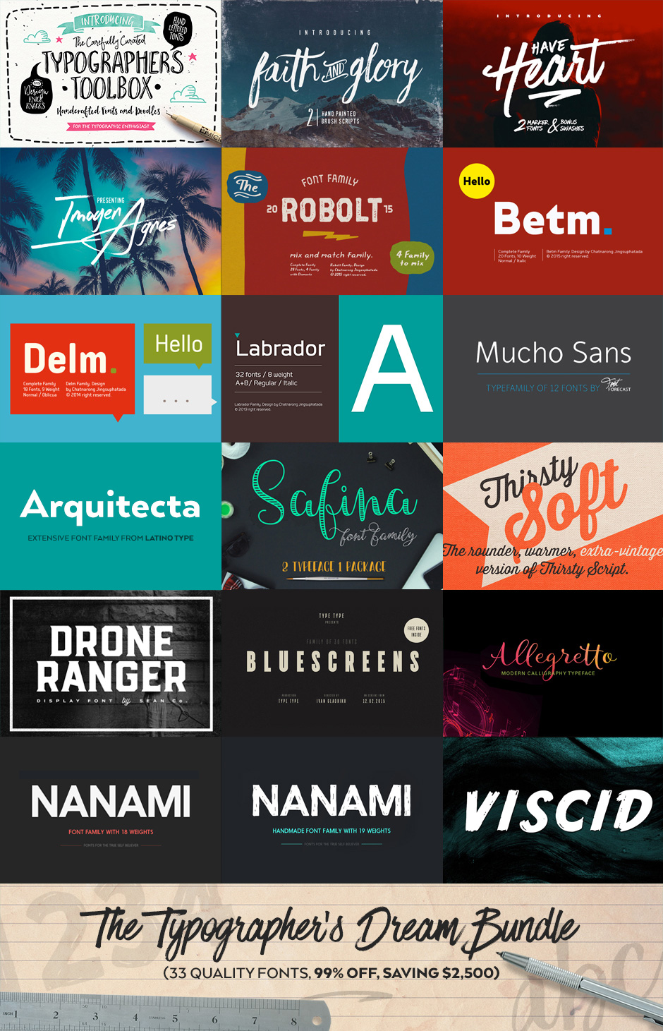 The Typographer's Dream Bundle