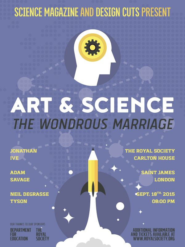 Create an Illustrated Art vs Science Conference Poster - Design ...