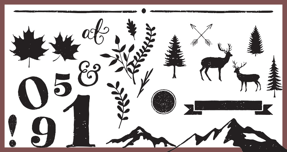 Hand-drawn, Animal, Outdoors, and Decorative Elements Vector Pack