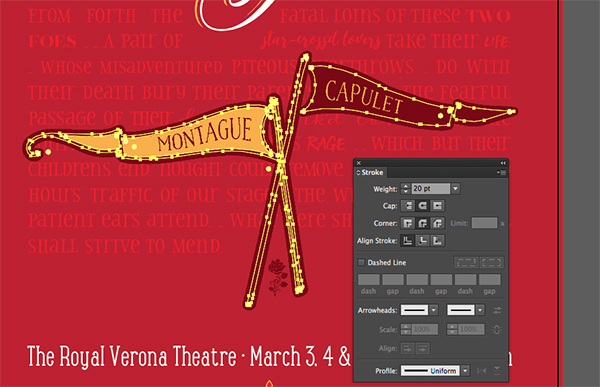 Design A Typographic Playbill Poster In Illustrator