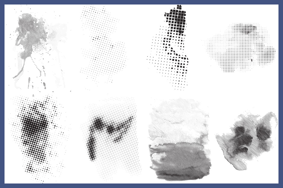 Halftone Vectors for Photoshop and Illustrator