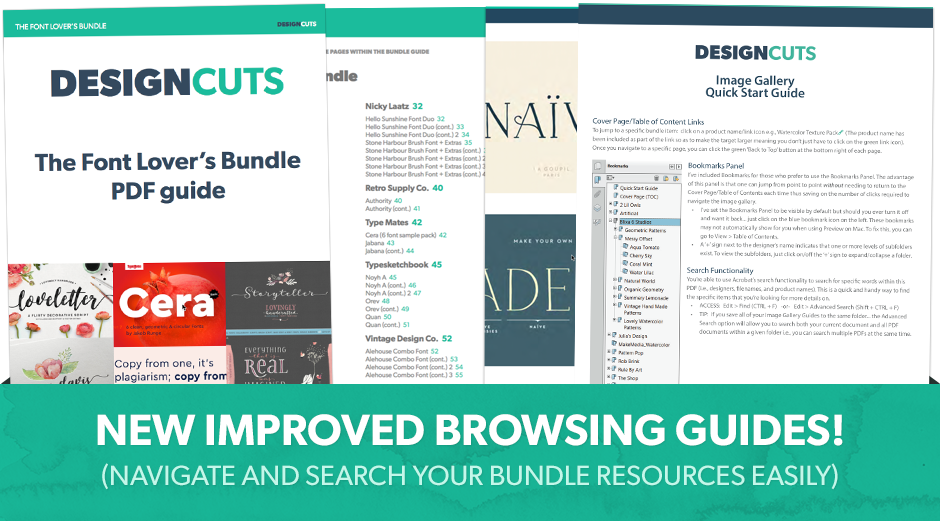 The Font Lover's Bundle
