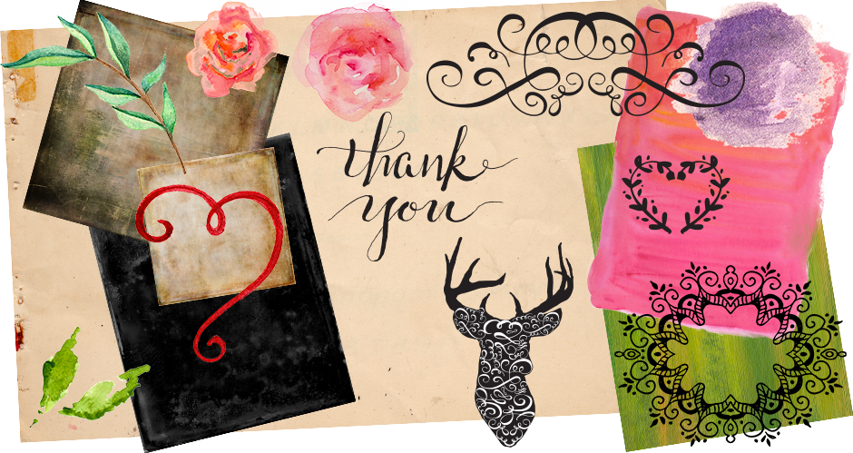 Paper and Watercolour Textures, Decorative Swirls, Elements, and Floral Graphics Pack