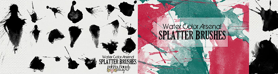 Watercolour and Splatter Brushes Pack