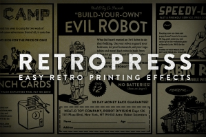 RetroPress - Photoshop Actions