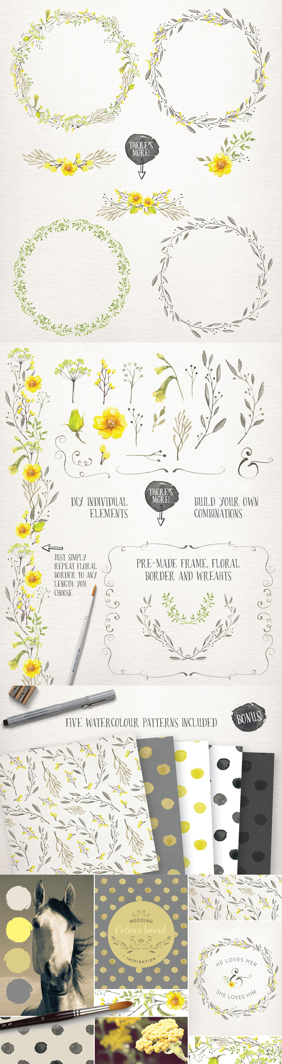 Watercolor Wedding Collection Vol. 2