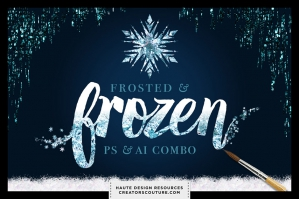Frosted & Frozen Creative Kit Combo (for Photoshop and Illustrator)