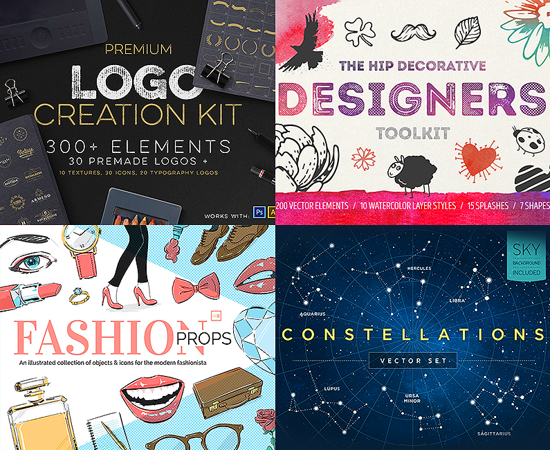 The Complete Vector Design Toolkit: 1000s of Quality Resources - Design Cuts