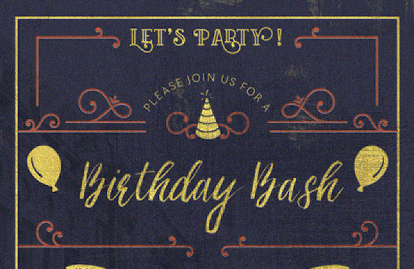 Create an Elegant Birthday Party Invitation - Design Cuts Design Cuts
