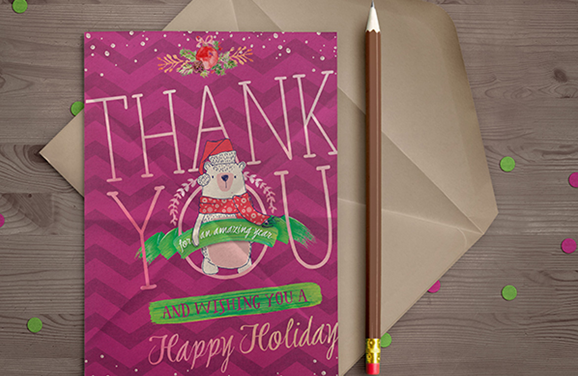 Create a festive thank you card in photoshop design cuts design cuts create a festive thank you card in photoshop baditri Choice Image