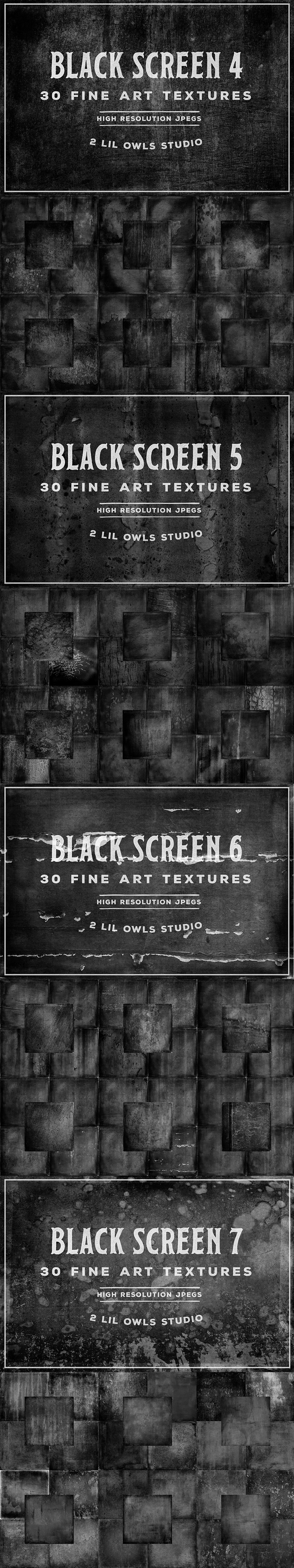 Black Screen Textures Bundle