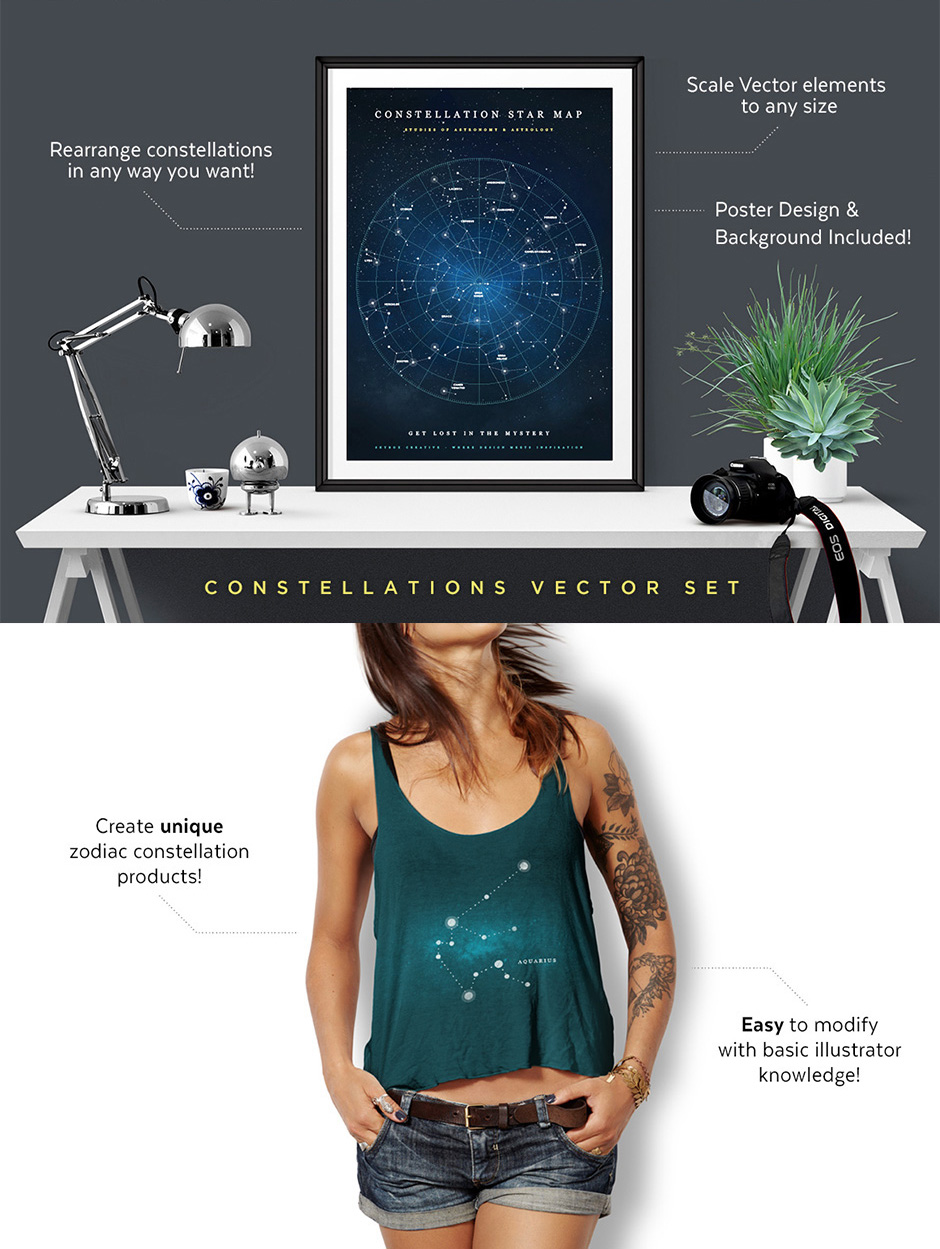 Constellations Vector Set