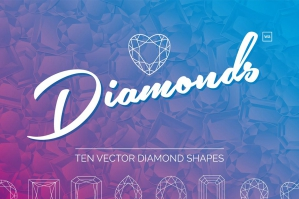 Diamond Vector Shapes