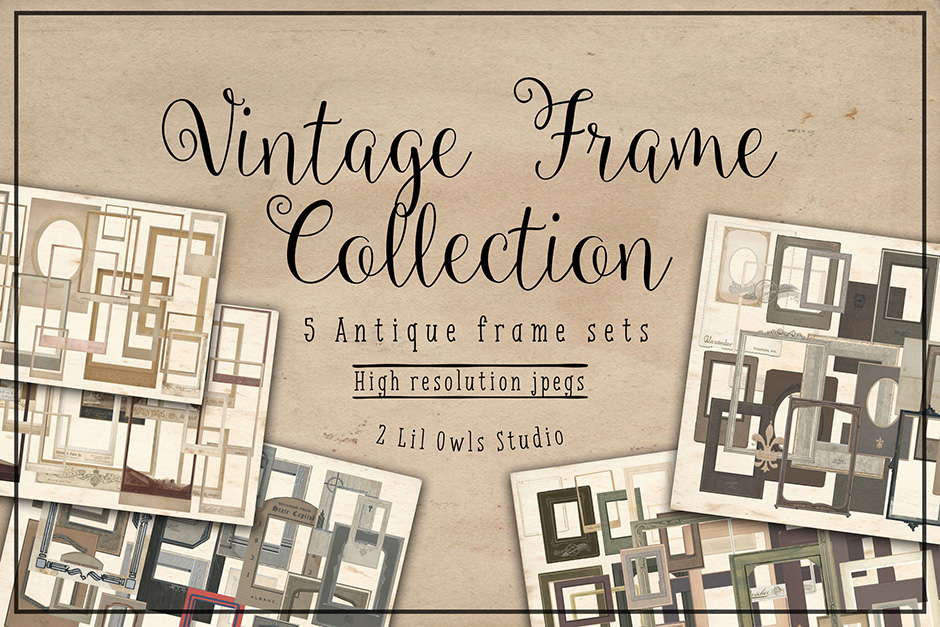 Vintage Frames Collection. 72% Off Regular Price