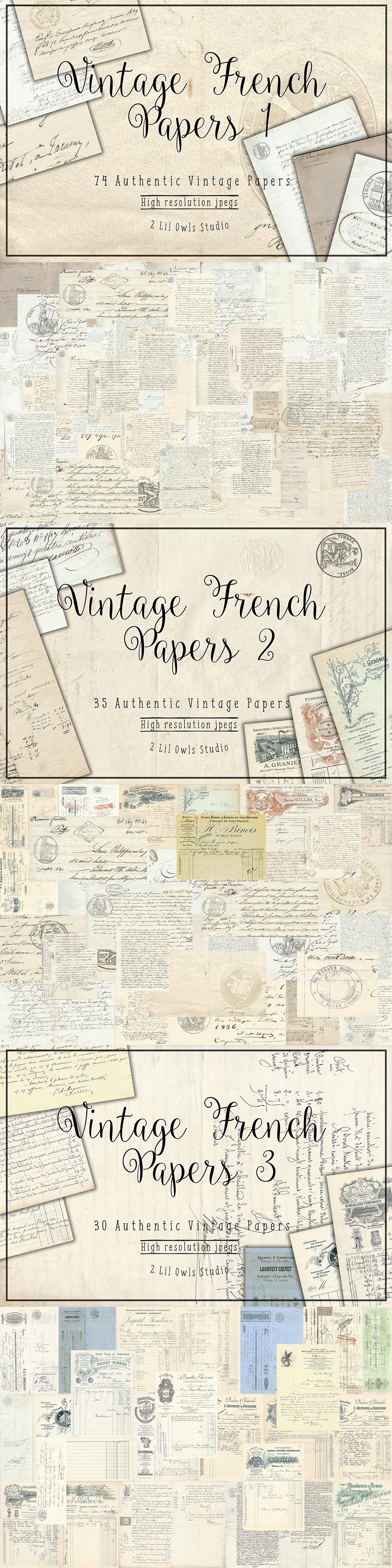 French Papers Bundle