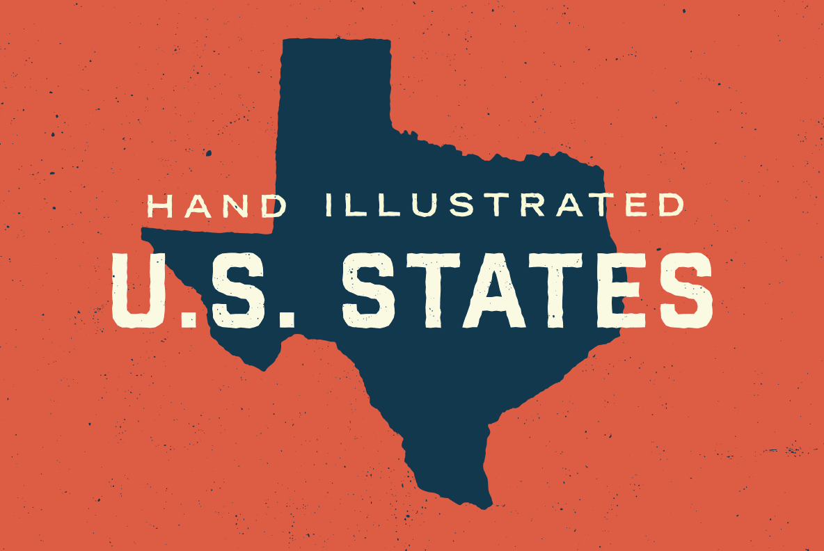 50 States – Hand Illustrated