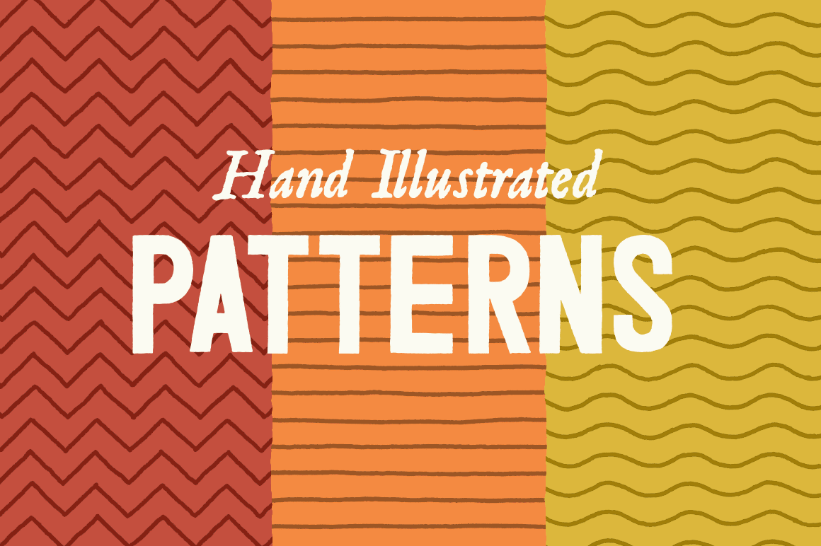 Line Patterns – Hand Illustrated