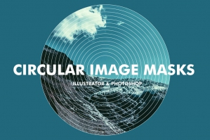 Circular Image Masks for Photoshop and Illustrator