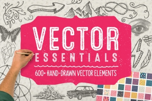 Vector Essentials: 600+ Hand-Drawn Vector Elements
