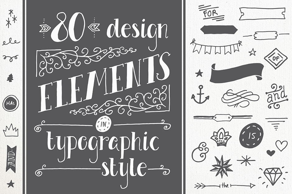 80 Typography Elements