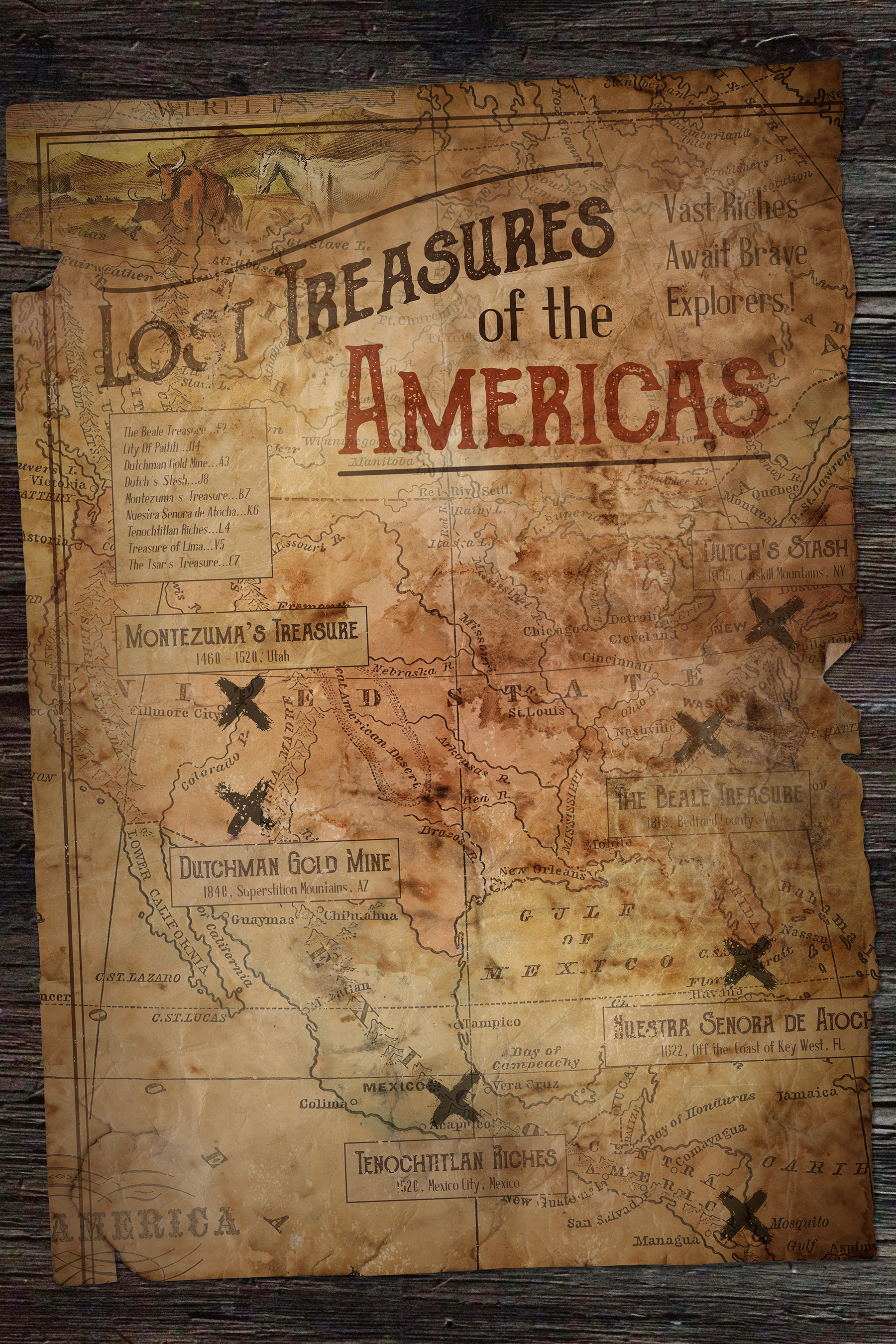 Create A Vintage Treasure Map In Photoshop Design Cuts