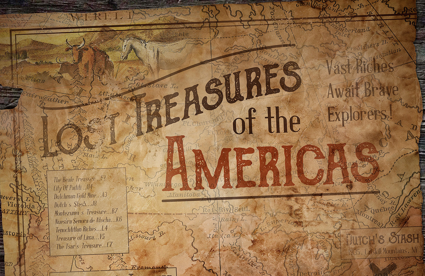 How To Make A Book Cover Look Old And Worn ~ Create a vintage treasure map in photoshop design cuts