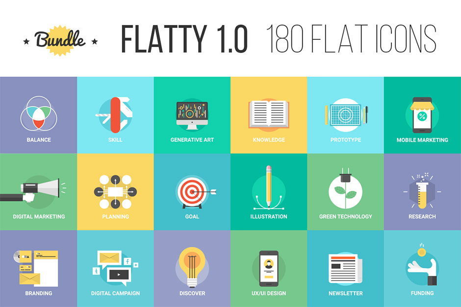 Bundle of Flatty Icons 1.0