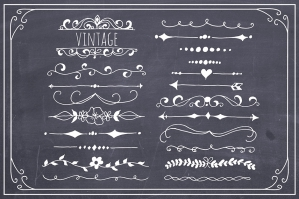 Hand Drawn Text Dividers Vector