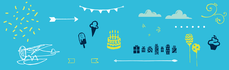 Fun Swirls, Doodles, Shapes, Balloons & Cakes Pack