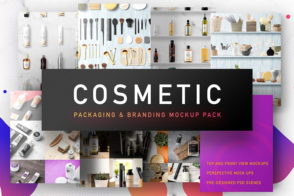 Cosmetic Packaging Branding MockUp Design Cuts