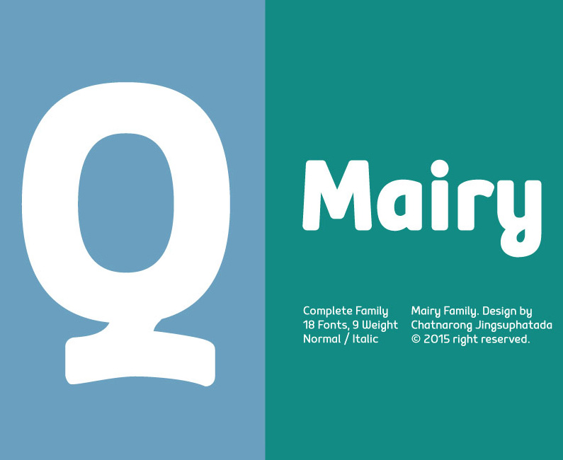 Mairy Typeface
