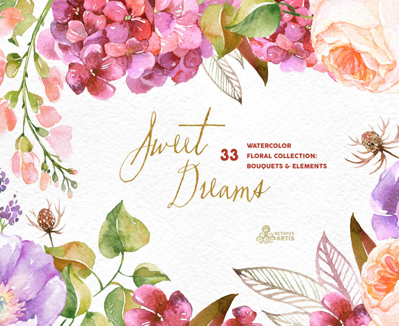 Sweet Dreams – Floral Collection. 40% Off Intro Special