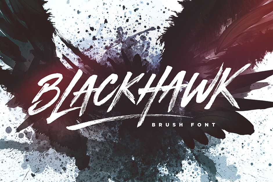 Blackhawk Brush font | fonts for painting