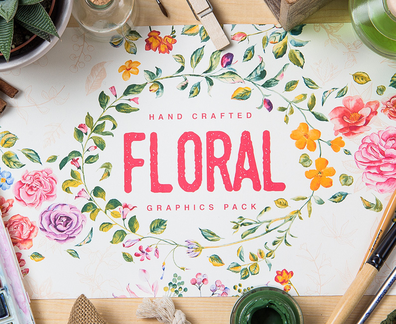 Floral Graphics Pack. 20% Off Intro Special