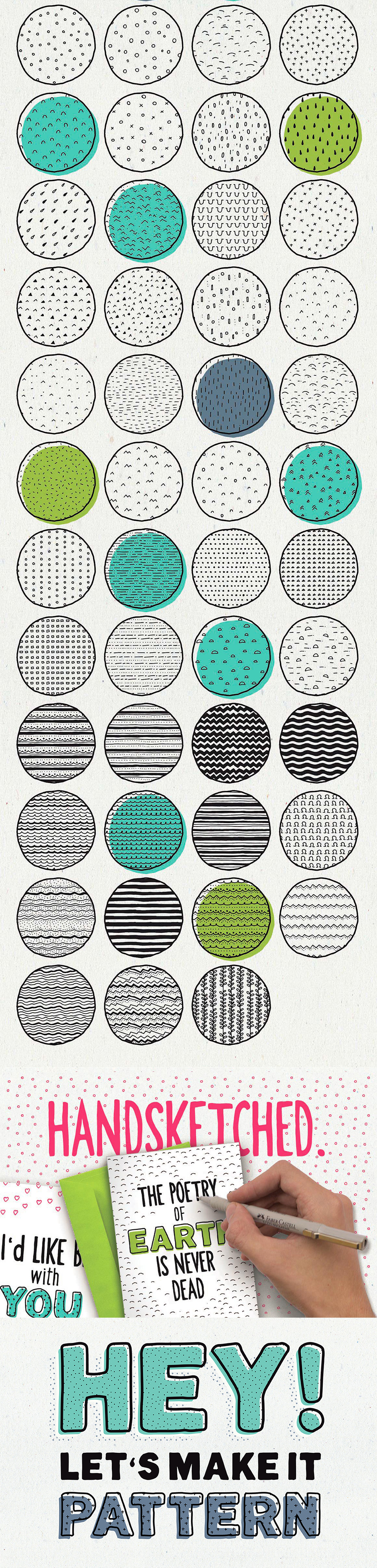 Hand-sketched Seampless Patterns II