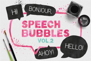Speech Bubbles and Splashes Collection Vol. 2