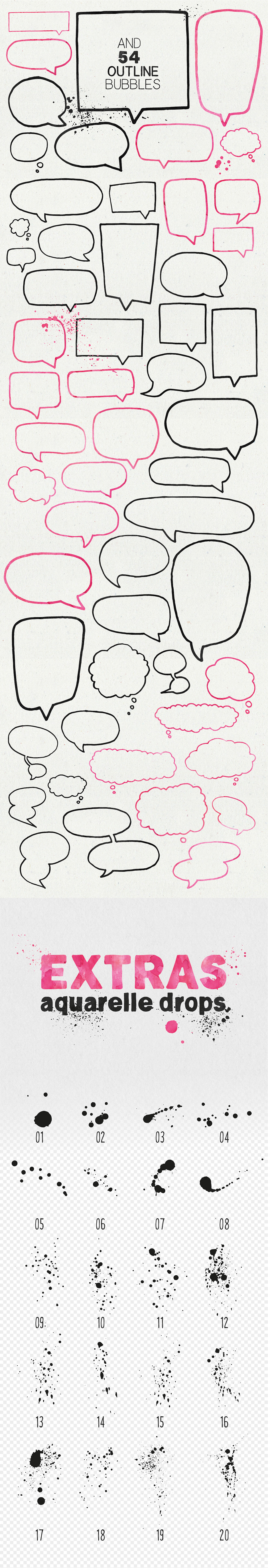Speech Bubbles and Splashes Collection