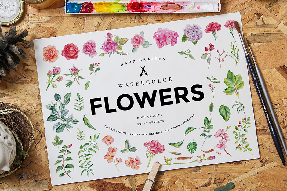 Watercolour Flowers Pack Vol. 1