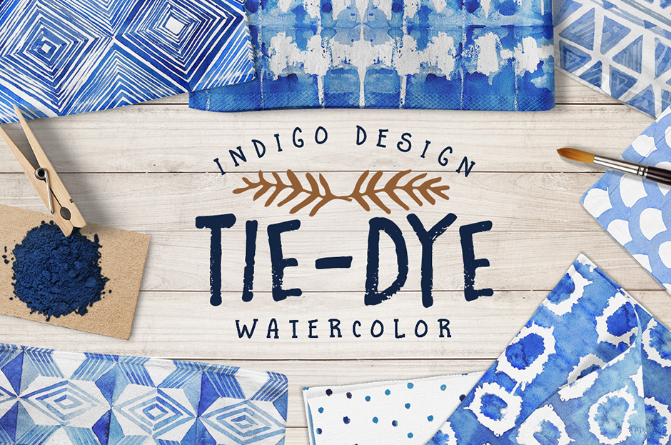 Tie Dye Watercolour Patterns Pack - Design Cuts Design Cuts