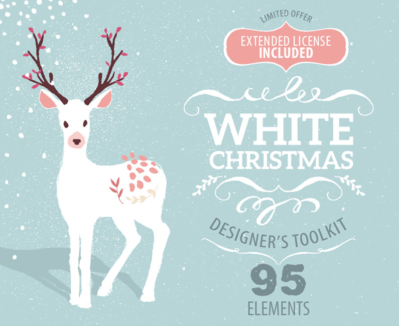 White Christmas Designer Toolkit. 30% Off Intro Special