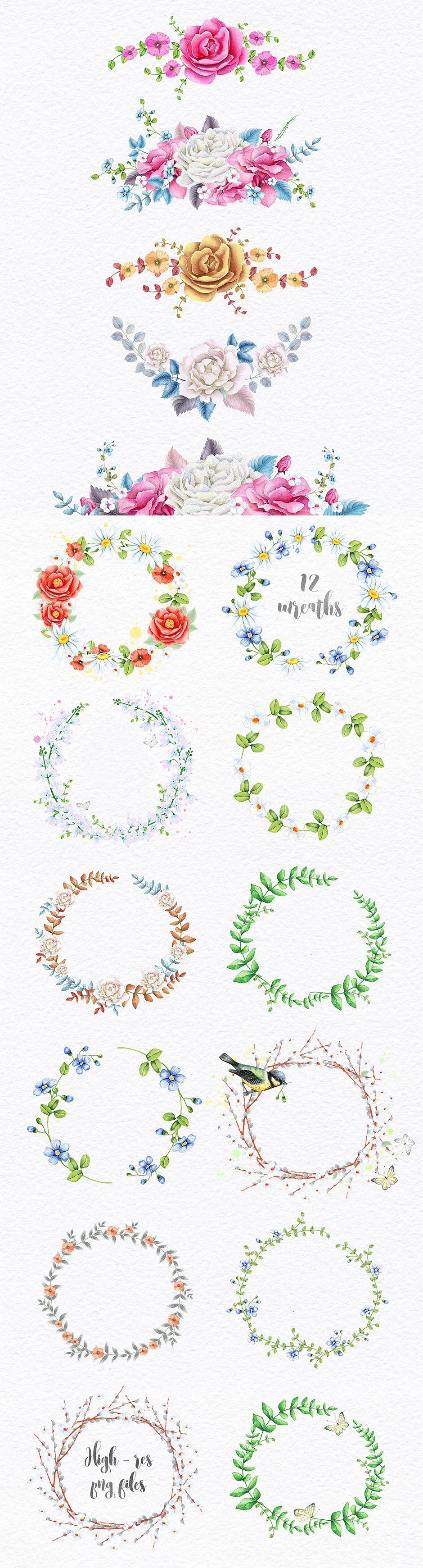 Wreaths and Bouquets Collection
