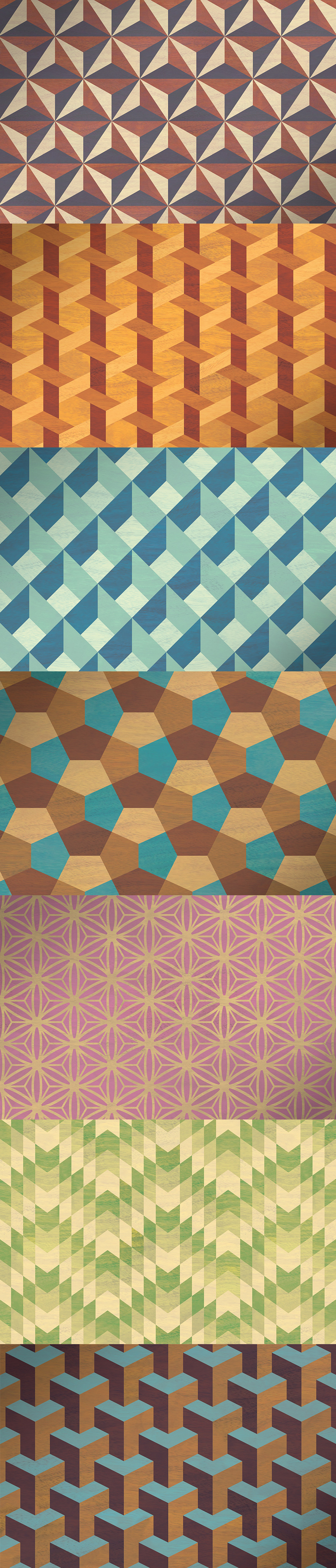 Geometric Marquetry Patterns