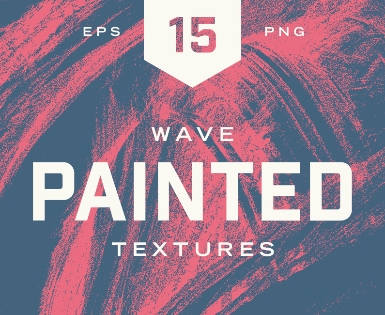 Painted Wave Textures. 40% Off Regular Price